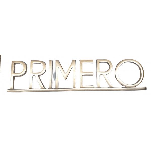 """PLACA PISOS FUNDICIO  60mm BRONZE """"PRIMERO"""""""