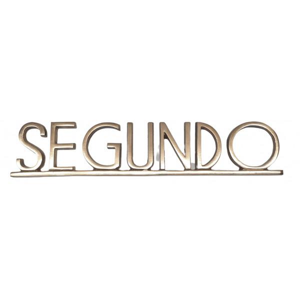 "PLACA PISOS FUNDICIO  60mm BRONZE ""SEGUNDO"""