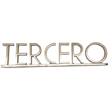 """PLACA PISOS FUNDICIO  60mm BRONZE """"TERCERO"""""""