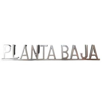 "PLACA PISOS FUNDICIO  60mm ALUMINI PLATA ""PLANTA BAJA"""
