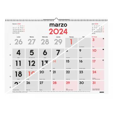 CALENDARI PARED ESP. M/V 590x420 AP+NU SP FINOCAM AÑO 2022