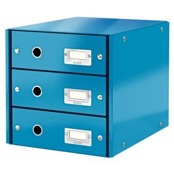 Módulo 3 cajones montable Click&Store azul Leitz