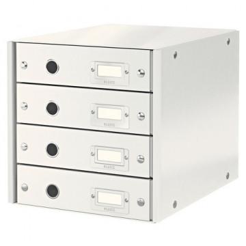 Módulo 4 cajones montable Click&Store blanco Leitz