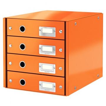 Módulo 4 cajones montable Click&Store naranja Leitz