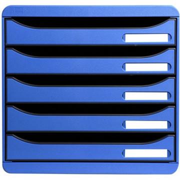 Módulo 5 cajones azul hielo Big-Box Plus Exacompta