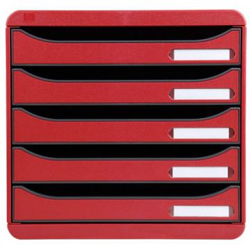 Módulo 5 cajones rojo Big-Box Plus Exacompta