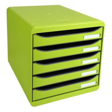 Módulo 5 cajones verde anís Big-Box Plus Exacompta