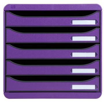 Módulo 5 cajones violeta Big-Box Plus Exacompta