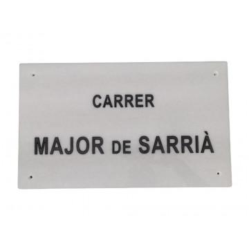 PLACA GRABADA MARBRE BLANC 50x30
