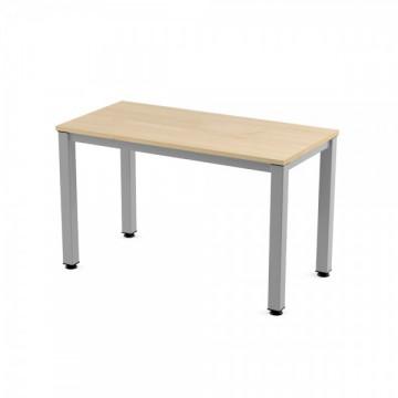 Mesa 120x60 cm. estructura blanca Tablero roble serie Executive