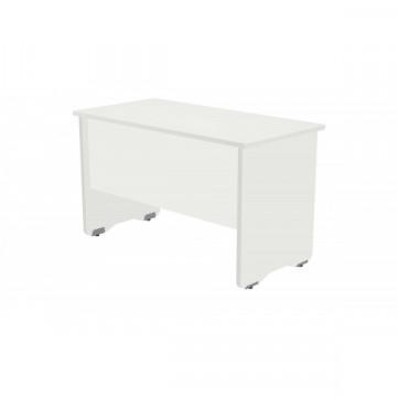Mesa 120x60 cm. estructura blanca y tablero roble serie Work Roc