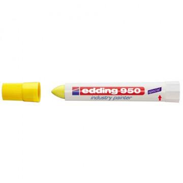 Marcador pasta opaca permanente amarillo edding 95