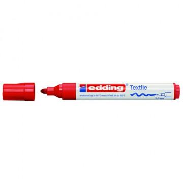 Marcador ropa punta redonda 2-3 mm. rojo Edding 45