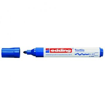 Marcador ropa punta redonda 2-3 mm. azul Edding 45