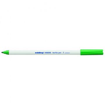 Marcador ropa punta redonda 1 mm. verde Edding 460