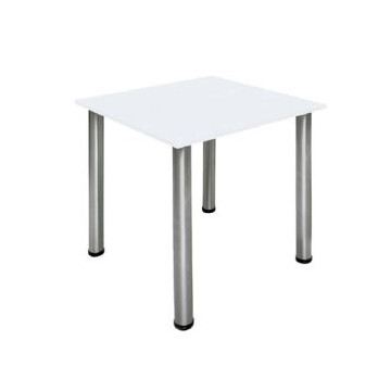 Mesa cuadrada madera Blanca 72 x 70 x 70 cm. Planning Sisplamo