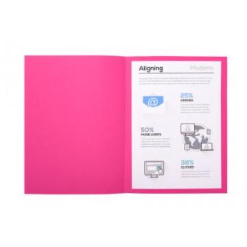 SUBCARPETA A4 (220x310) PAPER 60gr ROSA (250u)