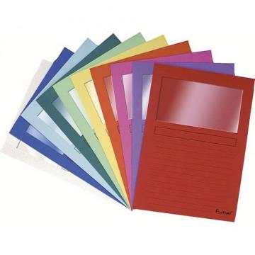 Subcarpetas A4 con ventana colores surtidos Foreve