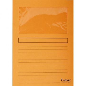 Subcarpetas A4 con ventana naranja Forever