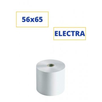 Rollo papel electra ancho 56,5mm ø65mm ø int. mandril 12mm Kores
