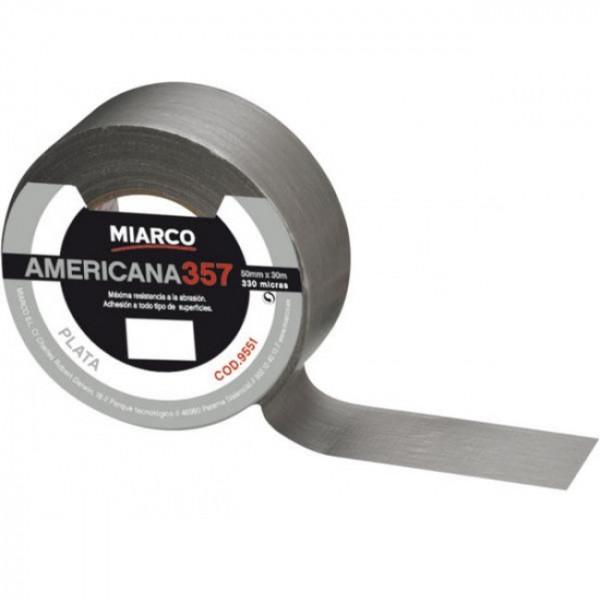 PRECINTO CINTA AMERICANA 10mx50mm GRIS