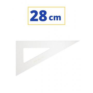 Cartabón de 28 cm sin graduar