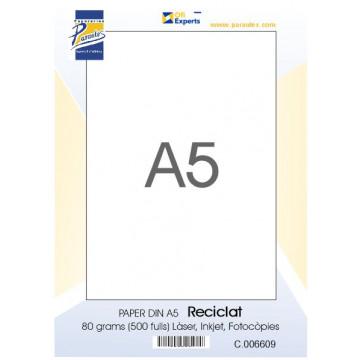 PAPER DIN A5  80 GR. (500u) RECICLAT