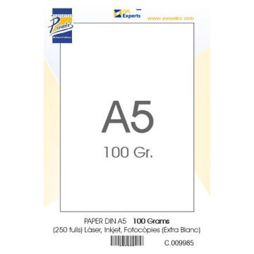 PAPER DIN A5 100 GR. (250u) EXTRA BLANC