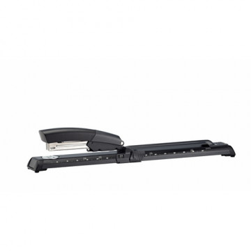 Grapadora  brazo largo Gris/negro Petrus 600