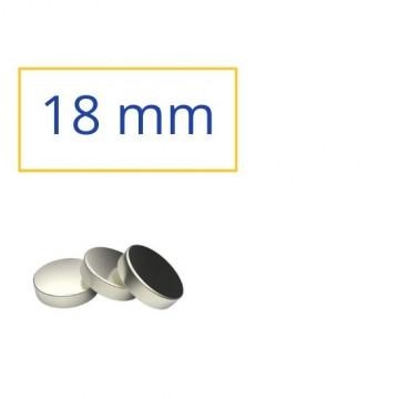 IMAN RODO 18mm PLATEJAT NEODINIO (3u)