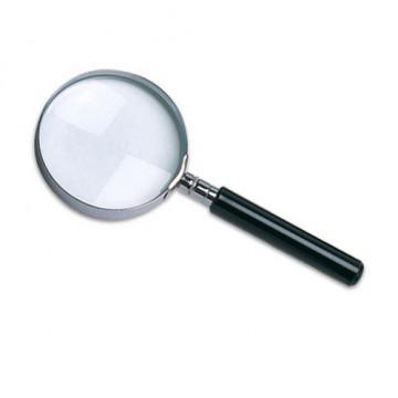 Lupa cristal aro metálico mango negro w-103 63 mm