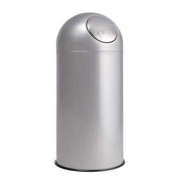Papelera BIG-PUSH 94 cm 40 de diámetro gris alumin