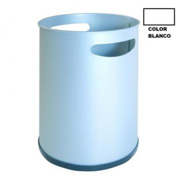 Papelera metálica con asas blanco 16 L Sie