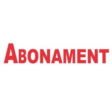 """SEGELL TRODAT F  CAT. """"ABONAMENT""""(4911)"""