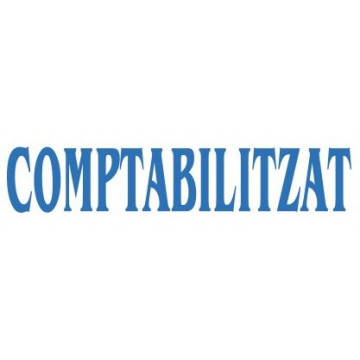 "SEGELL TRODAT F  CAT. ""COMPTABILITZAT""(4911)"