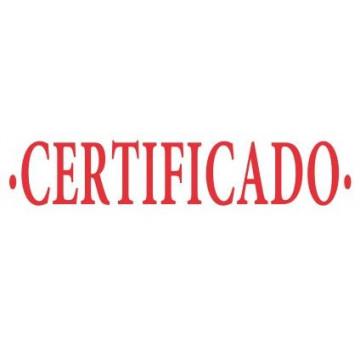"""SEGELL TRODAT F """"CERTIFICADO""""(4911)"""