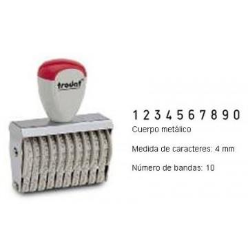 NUMERADOR 10 BANDES 4 mm.
