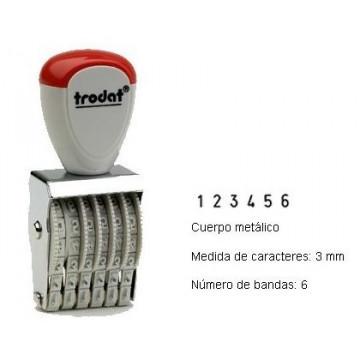 NUMERADOR 6 BANDES 3 mm.