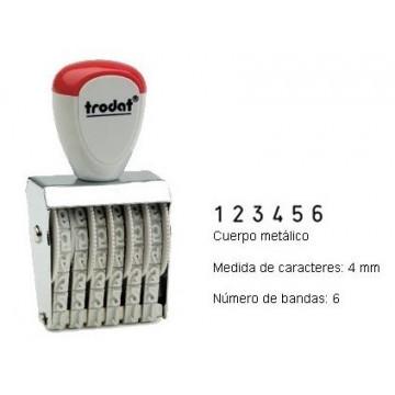 NUMERADOR 6 BANDES 4 mm.