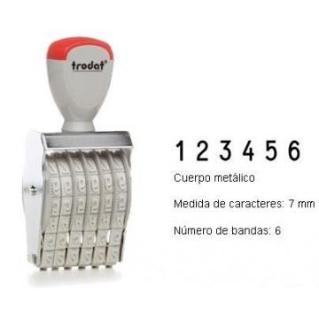 NUMERADOR 6 BANDES 7 mm.