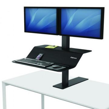 Estación de trabajo Sit-Stand Lotus™ VE monitor doble Fellowes