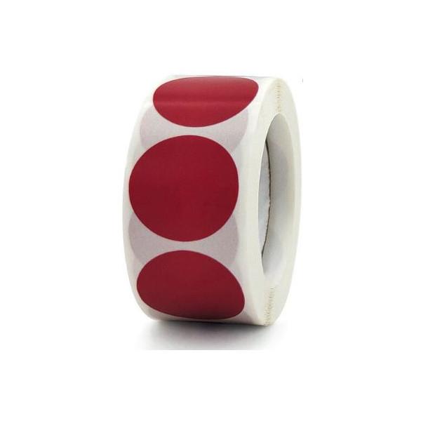 ETIQUETA VERMELLA RODONA 50mm IDEAL SEGELL SEC  (100u.)