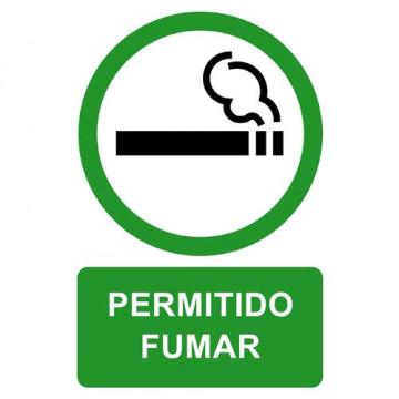 ETIQUETA ICONO 12x18 PERMITIDO FUMAR (2u)      (AB