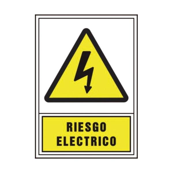 """PLACA A4 """"RIESGO ELECTRICO"""""""