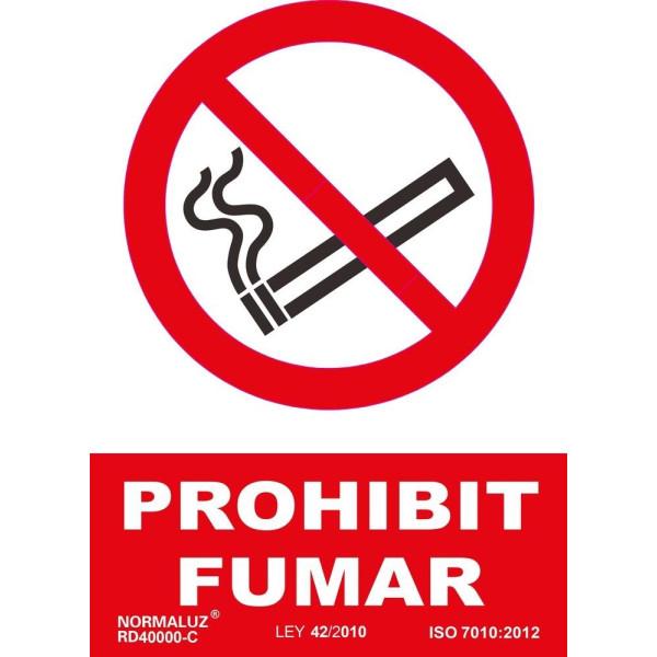 """PLACA A4 """"PROHIBIT FUMAR"""""""