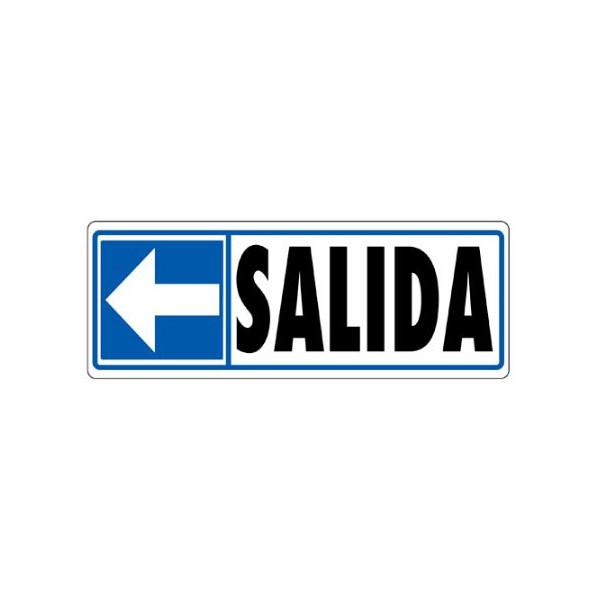 """PLACA 175x062 """"SALIDA"""" FLETXA ESQUERRE"""