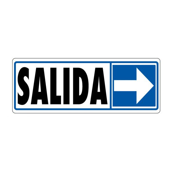 "PLACA 175x062 ""SALIDA"" FLETXA DRETA"