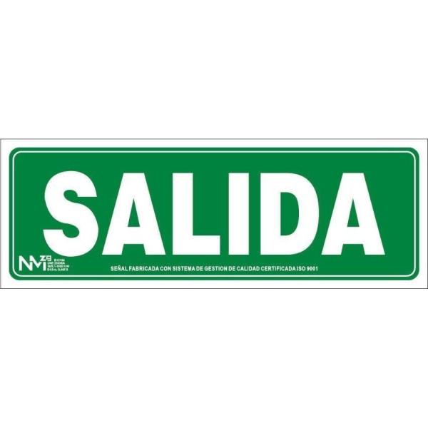 "PLACA 10x30 ""SALIDA"" FOTOLUMINISCENTE"