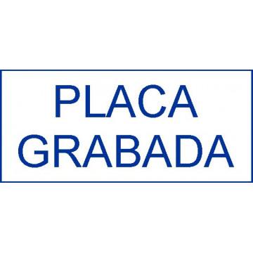 PLACA F LASER MAX 1,6 mm (BLAU/BLANC)