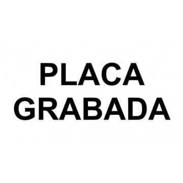 PLACA F LASER MAX 1,6 mm (NEGRE/BLANC)
